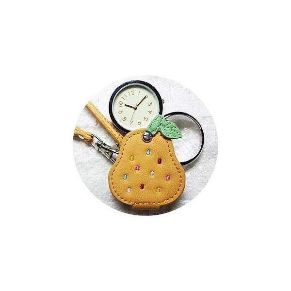 フィールドワークFieldwork 懐中時計 ルーペウォッチ 洋なし アナログ表示 ストラップ付き ベージュ LW034-1