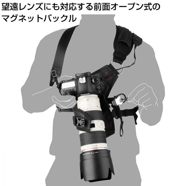 HAKUBA カメラ用ホルスター GW-PRO G3 カメラホルスター 大口径レンズ対応 SGWPG3-CH