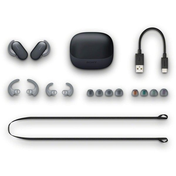 ソニー SONY 完全ワイヤレスイヤホン WF-SP900 : Bluetooth対応 左右分離型 防滴 防塵 4GBメモリ内蔵 2018年