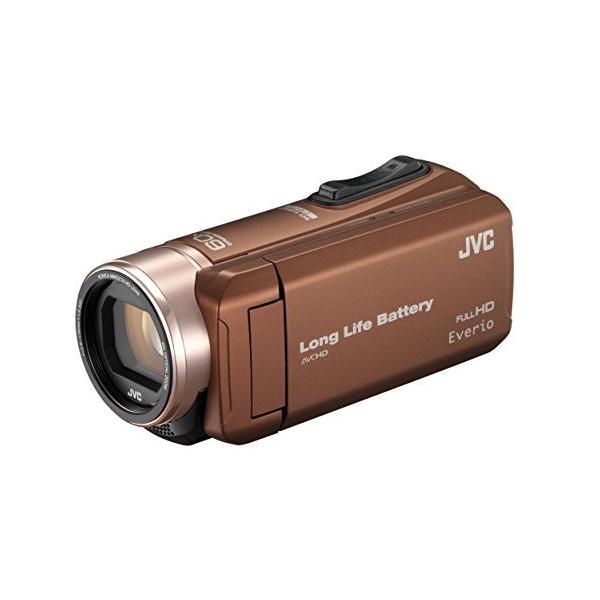 JVC ビデオカメラ Everio R 耐低温 耐衝撃 長時間内蔵バッテリー 内蔵メモリー32GB ライトブラウン GZ-F200-T