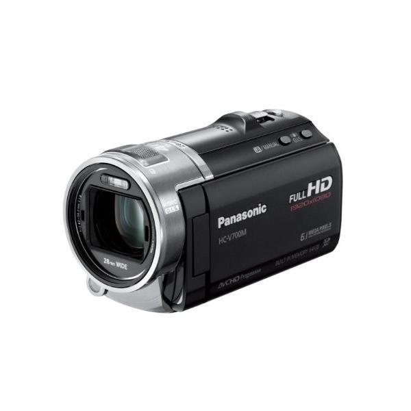 パナソニック デジタルハイビジョンビデオカメラ 内蔵メモリー64GB ブラック HC-V700M-K