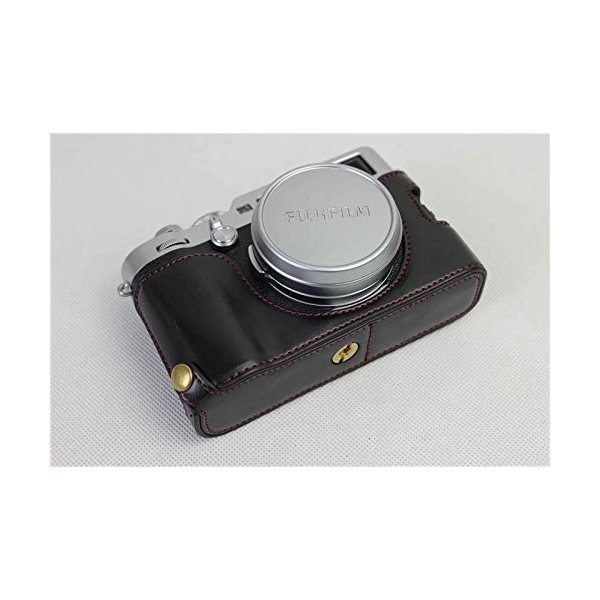 Fujifilm Fuji 富士 PEN X100F カメラ バッグ カメラ ケース 、Koowl手作りトップクラスのPUレザーカメラハーフ hello-2017 02