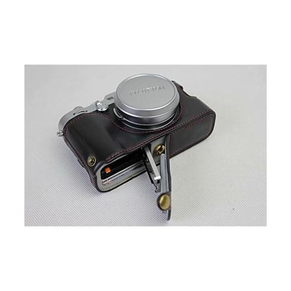 Fujifilm Fuji 富士 PEN X100F カメラ バッグ カメラ ケース 、Koowl手作りトップクラスのPUレザーカメラハーフ hello-2017 03