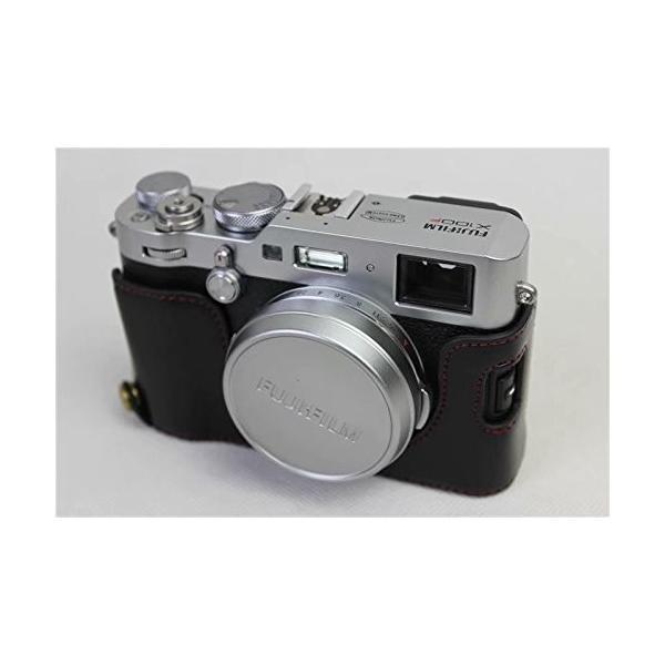 Fujifilm Fuji 富士 PEN X100F カメラ バッグ カメラ ケース 、Koowl手作りトップクラスのPUレザーカメラハーフ hello-2017 06