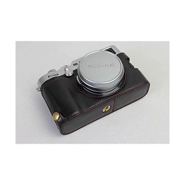 Fujifilm Fuji 富士 PEN X100F カメラ バッグ カメラ ケース 、Koowl手作りトップクラスのPUレザーカメラハーフ hello-2017 08