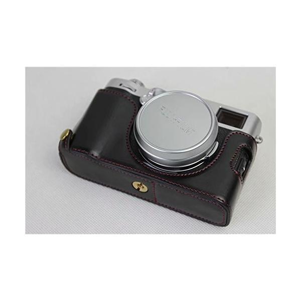Fujifilm Fuji 富士 PEN X100F カメラ バッグ カメラ ケース 、Koowl手作りトップクラスのPUレザーカメラハーフ hello-2017 09