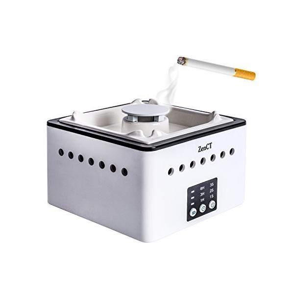 ZenCT 空気清浄灰皿 充電式 スモークレス灰皿 電動吸煙式灰皿 イオン発生器 脱臭 高性能HEPAフィルター搭載 10畳/空気清浄 タバ