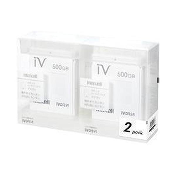 マクセル iVDR-S規格対応リムーバブル・ハードディスク 500GB×2個パック(ホワイト)maxell カセットハードディスク「iV(ア