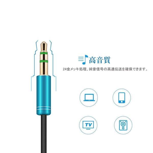 オーディオ延長ケーブル 高音質ヘッドホン延長コード標準3.5mm オス?メス 金メッキ端子 (3M)