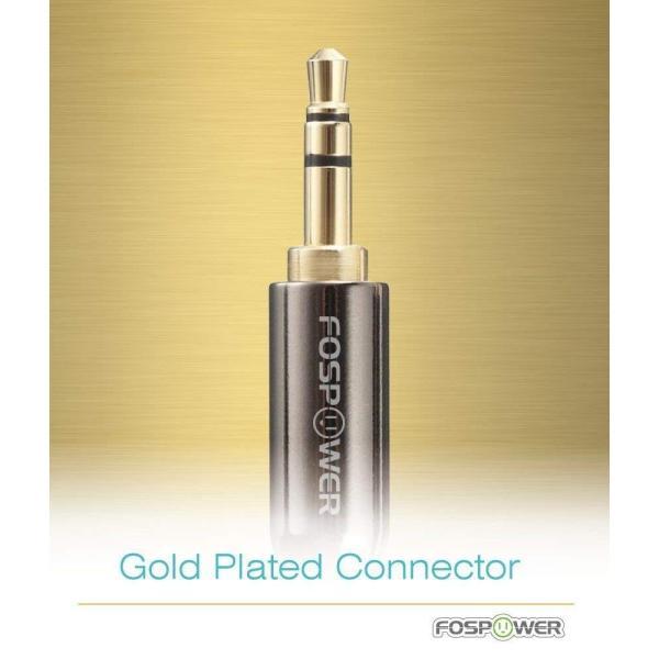 FosPower (7.6m/25ft) 3.5mm (オス-オス) ミニプラグ ジャック AUX 端子 ステレオ オーディオ 音声接続ケー