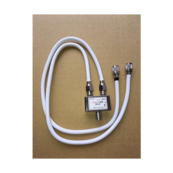 出力ケーブル0.4m付分波器 S4C-FB ホワイト 1本 F丸型ネジ込みコネクタ付 CB-1FW
