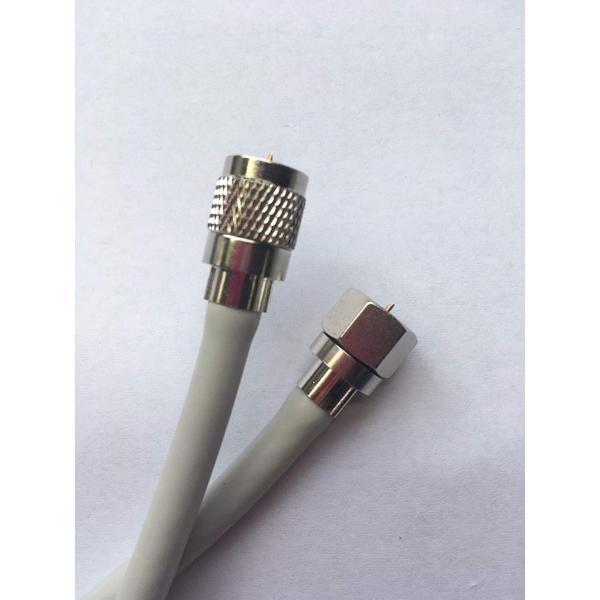 3wayアンテナケーブル 4K8K対応 S5C-FB 白色 10m ●色と長さが選べる延長も出きます使い方によって様々に対応ネジ込易い丸F型