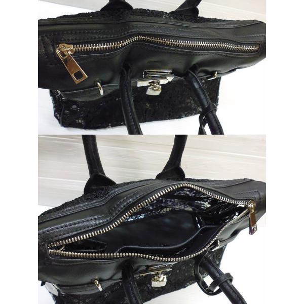 ゴシックレースon透明ビニール ハンドバッグ レディース 鞄  再入荷 /wox141