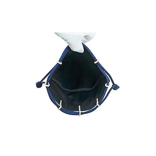 INDEN-YA 印傳屋 印伝 合切袋 巾着 メンズ 男性用 紺×白 青海波 3007-14-004|hellodolly