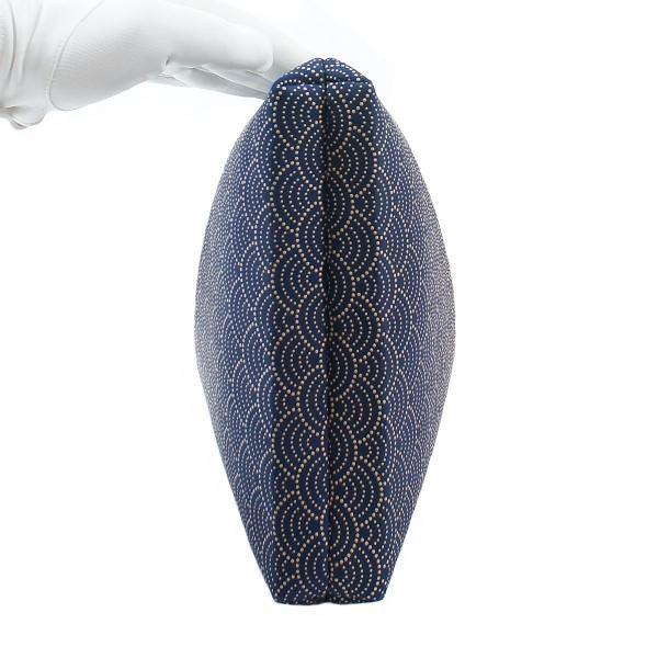 INDEN-YA 印傳屋 印伝 合切袋 巾着 メンズ 男性用 紺×白 青海波 3007-14-004|hellodolly|08