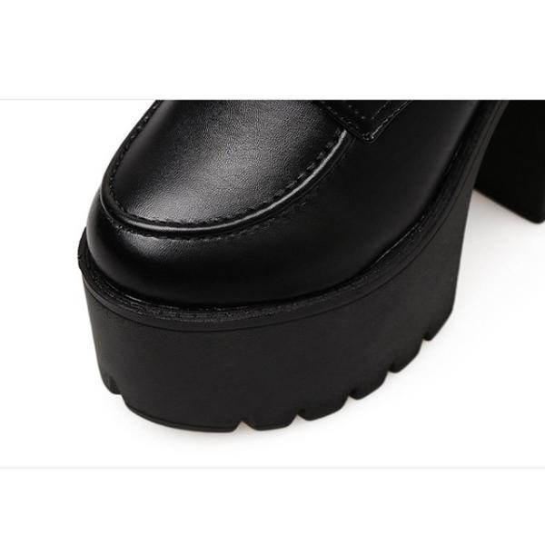 ブーツ ショートブーツ レースアップブーツ 厚底ブーツ レディース プラットフォーム チャンキーヒール