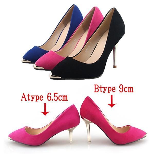 パンプス ヒール2type 6.5センチor9センチ 美脚 ピンヒール パンプス 靴 くつ シューズ 大きいサイズ 秋 フォーマル hellowstation 02