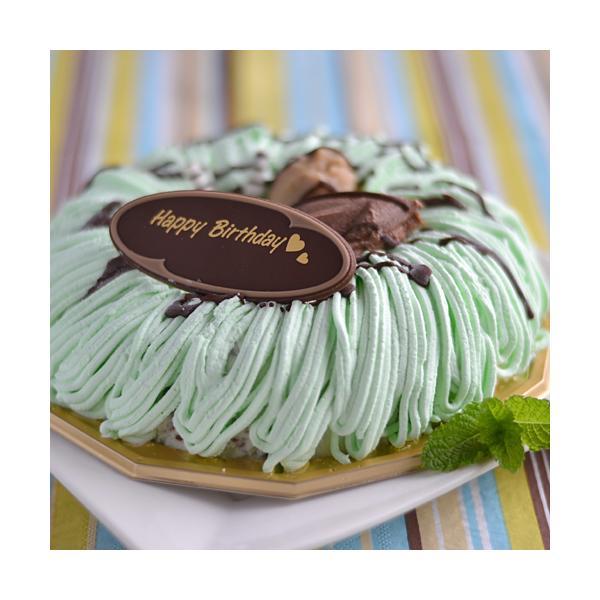 チョコミント アイスケーキ 5号 ( ドーナッツ 型 )