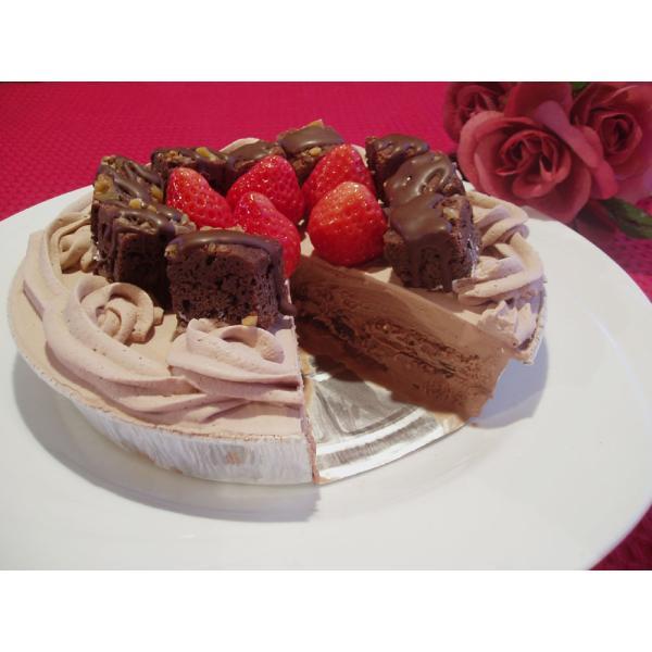 手作りチョコレートブラウニーアイスケーキ6号(誕生日・お祝い)
