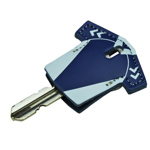 定形外郵便限定 送料無料 サッカー フットサル ユニフォーム型 レザー キーカバー キーキャップ 日本製 牛革  鍵の識別 鍵の番号 NO. 隠しに