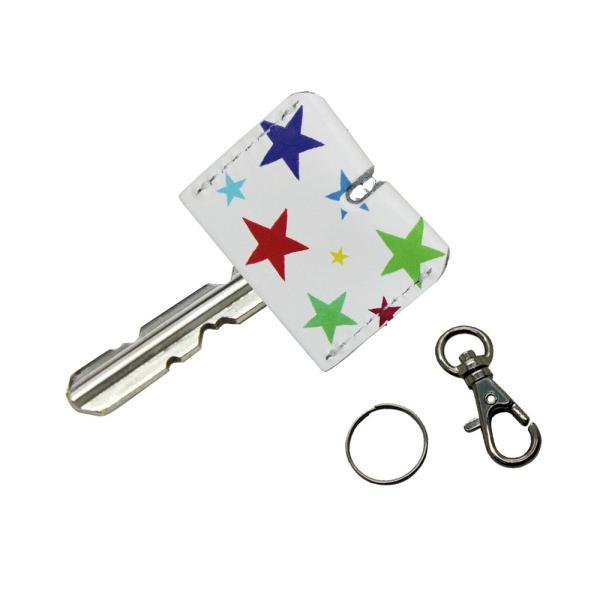 定形外郵便限定 送料無料 レザー キーカバー カラフル 牛革 キーキャップ 鍵の識別 鍵の番号 NO. 隠しに