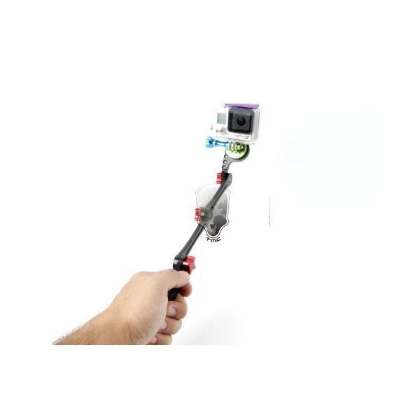TMC GoPro 折り畳み式 自撮り棒 軽量 アルミ製 BK ブラック