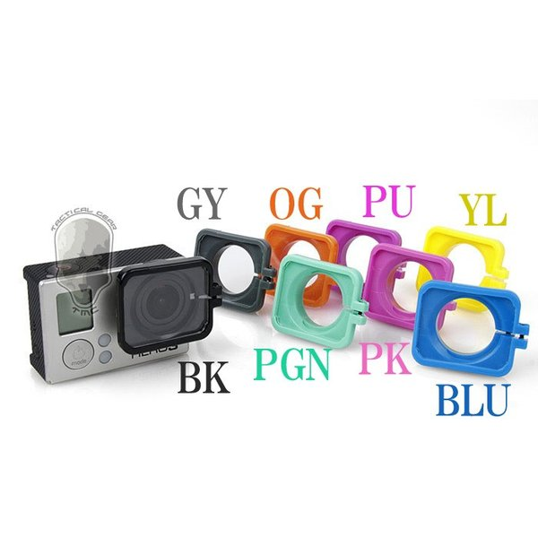 TMC GoPro フード付き レンズカバー 保護 HERO3+専用 PK