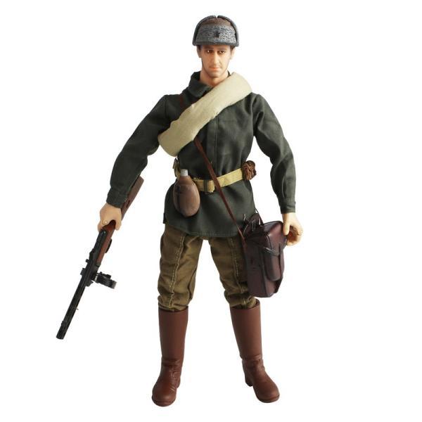ミリタリーリアルアクションフィギュア第二次世界大戦ウシャンカシュパーギンPPSh-41遠征ソ連歩兵(1/6スケール)