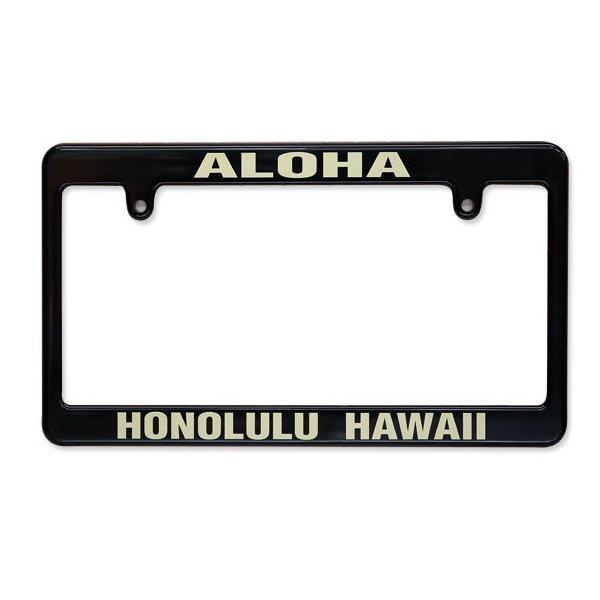 MOON EYES ムーンアイズ ナンバーフレーム ALOHA ハワイ アロハ 国産車対応 日本車 車 ライセンスフレーム 外装 カーアクセサリー ドレスアップ用品 自動車