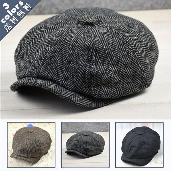 メンズハンチングメンズ帽子ハンチング縞柄紳士キャスケット春 イギリス風メンズキャップ大きいサイズ防寒日よけハットファッション