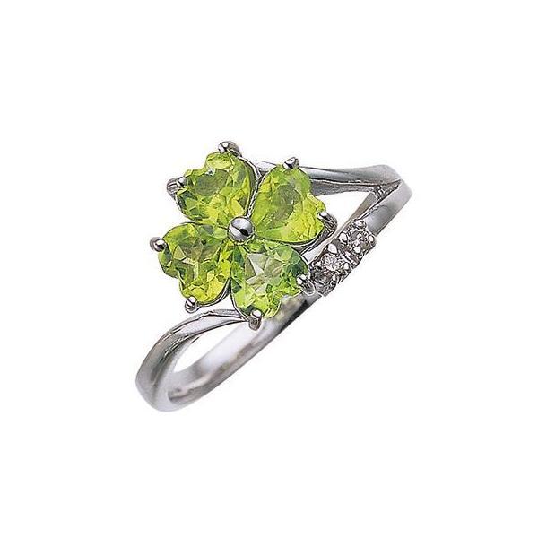 リング 指輪四つ葉のクローバー ペリドット ダイヤモンド リングB0777送料無料 8月の誕生石 四葉 モチーフ|heroinestyle