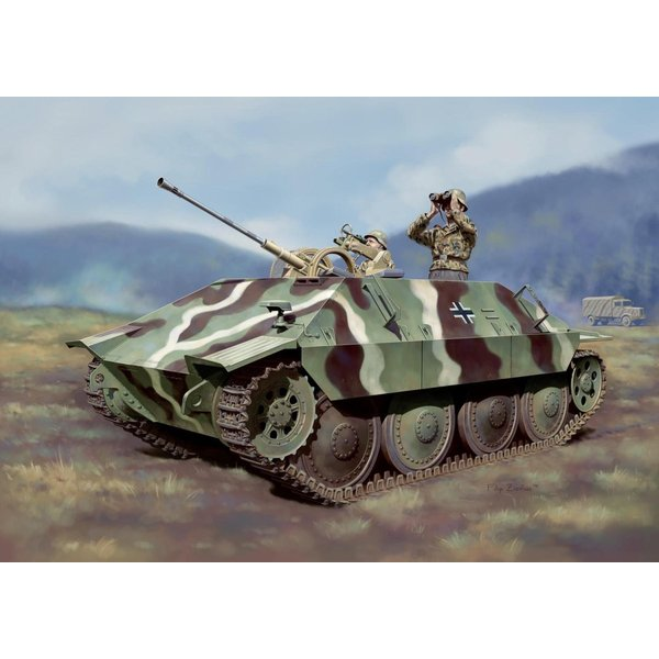 プラッツ 1/35 第二次世界大戦 ドイツ軍 駆逐戦車 38(t)2cm対空機関砲 Flak38搭載型 プラモデル DR6399|heros-shop|06