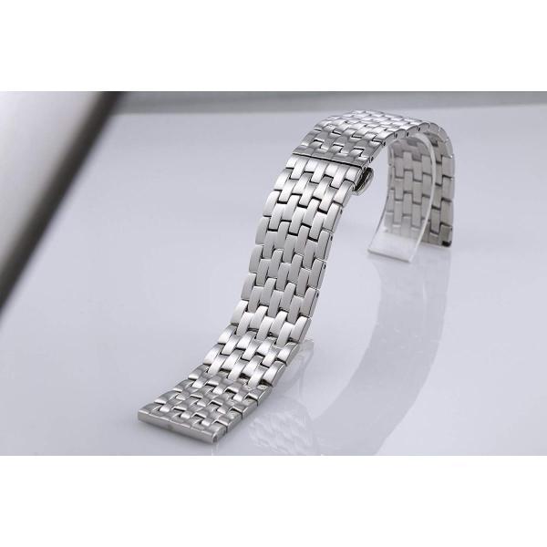 19mmの独創的なステンレススチール製のリンクをメンズ腕時計のためのシルバーの交換バンド製作