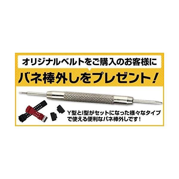 工具付きG-SHOCK対応ベルト 交換用アダプター ナイロンベルトセット バネ棒外し付き 取り付け動画QRコード付き 交換用ベルト バンド