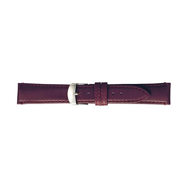 バンビBAMBI 時計バンド 牛革 スコッチガード ワイン 19mm BCM003ER