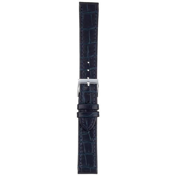ミモザMIMOSA ミモザ時計バンド P型押ワニ(牛革型押し/竹符) 17mm ネイビー CP-N17
