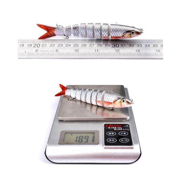 Juemenzhe 釣具セット ビックベイト フィッシング ルアー ジョイント 6枚 19g 13cm ハードルアー 多種類 爆釣り フィッ