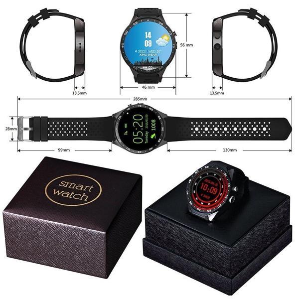 Kingwear KW88 スマートウォッチ Smart Watch ウォッチフォン Bluetooth 4.0 心拍数 歩数計 重力センサ