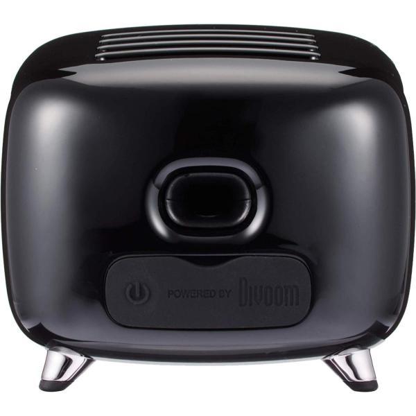 Divoom TIVOO レトロTV型モニター搭載 Bluetoothスピーカー ブラック