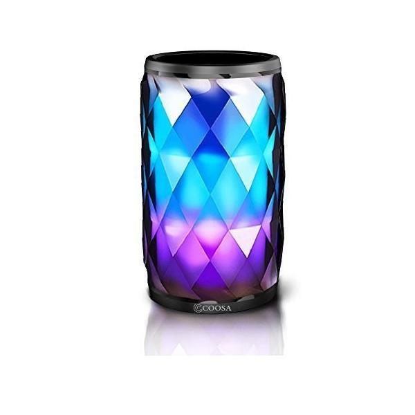 Bluetooth スピーカー ワイヤレス ステレオ 低音強化アウトドア スピーカー スマートタッチLEDの色の変え ハンズフリー通話 Bl
