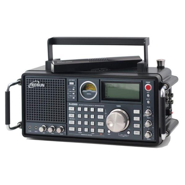TECSUN S-2000 FMステレオ/AIR/LW/MW/SW SSB・エアバンド PLLシンセサイザーワールドバンドレシーバー 短波ラ