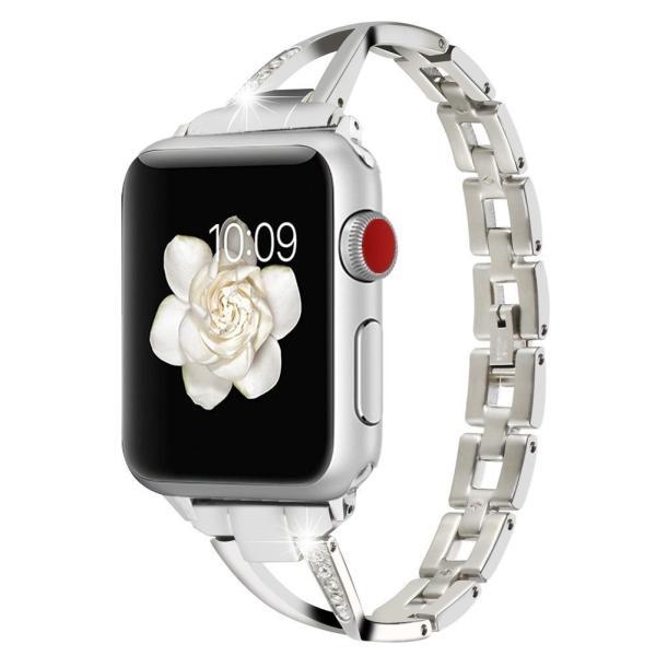 Apple Watch バンド Sakula ステンレス ダイヤモンド付き アップルウォッチ 交換ベルト Apple Watch Serie