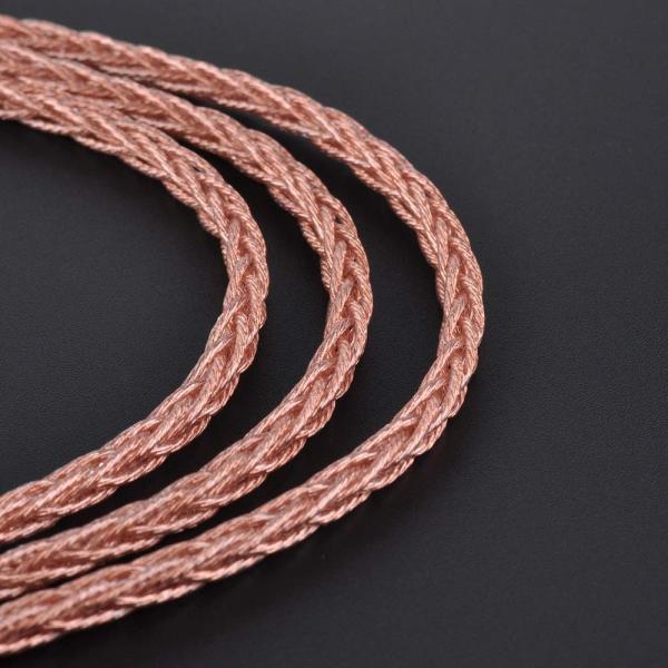 HiF4814 8芯 金銅合金 金属コネクタ 、安定性の高い リケーブル イヤホンアップグレード ピンクケーブル バランスリケーブル 8コア