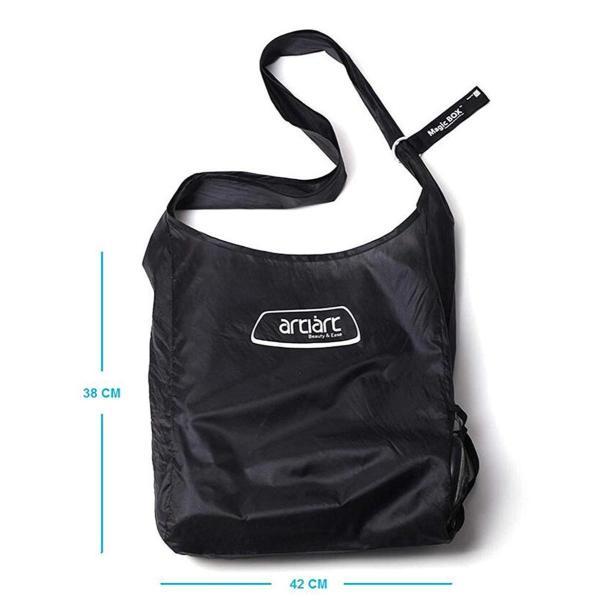 Artiart 折り畳み式クロスボディショッピングバッグ(黒)