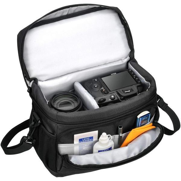 HAKUBA カメラバッグ ルフトデザイン アーバンウォーカー ショルダーバッグ M 4.4L ブラック SLD-UW-SBMBK|heros-shop