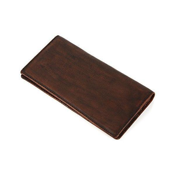 ラファエロRaffaello一流の革職人が作る古代の革を染色したメンズ二つ折り長財布
