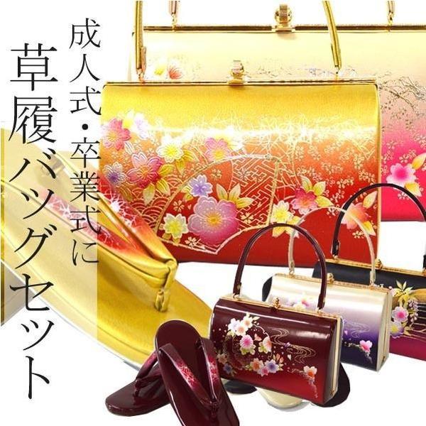 ぞうり 女性レディース草履バッグセット/2サイズ6タイプ|hesaka