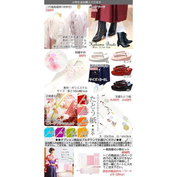 袴セット 卒業式 袴 セット 女性 二尺袖 着物 ぼかし グラデーション はかま 3点 フルセット 半巾帯 付 販売 購入 女の子 ジュニア hesaka 11