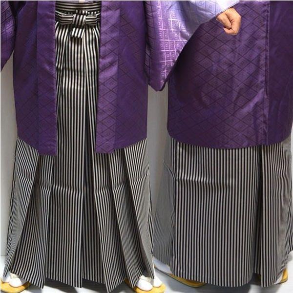 卒業式・成人式・結婚式 男性メンズ行灯(あんどん)縞袴はかま/7サイズ|hesaka|03
