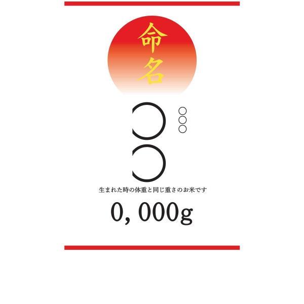 出産内祝い お返し 出生体重米 我が家の新米家族 玄米 白米 オリジナル米袋で 得トクセール|hey-com-bicchu|04